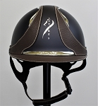 SOLD - Antarès Galaxy Helmet #17 3661 (satin blue, chrome logo, size small)