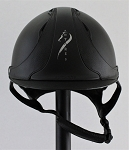 Antares Reference Helmet #18 589 (matte black/black, silver logo, size small)