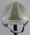 Antares Premium Custom Varnished Helmet #18 905 (beige varnish, white logo, size medium)