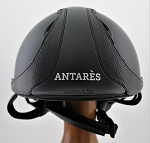 Antares Reference Race Helmet #16 1493 (matte black/black, silver logo, size small)