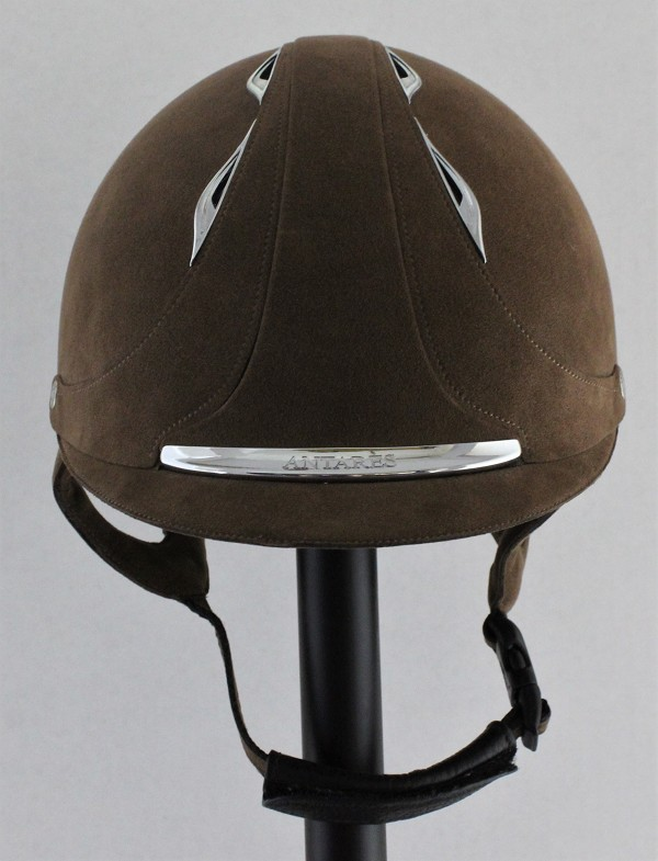 SOLD - Antares Passage Dressage Helmet #13 1592 (brown alcantara, no logo, size small)