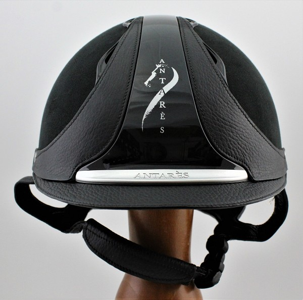Antares Hunter Classic Helmet #18 622 (black, silver logo, size small)