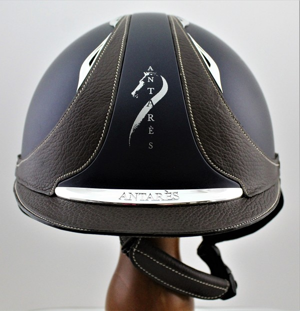 SOLD - Antarès  Galaxy Helmet #17 3662 (satin blue, chrome logo, size medium)