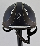 SOLD - Antares Galaxy Cross Helmet #15 3711 (satin blue, silver logo, size small)