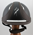 SOLD - Antares Reference Helmet #17 3669 (matte black/brown, silver logo, size small)
